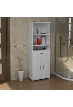 Sanal Mobilya Sorrento Çok Amaçlı Banyo Dolabı G1-Ç3-K4