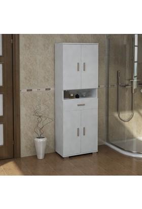 Sanal Mobilya Sorrento Çok Amaçlı Banyo Dolabı G1-Ç3-K4-K4