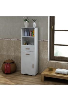 Sanal Mobilya Sorrento Çok Amaçlı Banyo Dolabı G4-Ç2-K2