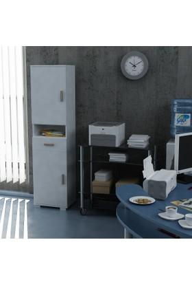 Sanal Mobilya Sorrento Çok Amaçlı Ofis Dolabı G2-Ç1-K6
