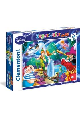 Clementoni Çocuk Puzzle : Peter Pan, 24 Parça Maxi Puzzle
