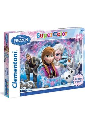 Clementoni 104 Parça Simli (Glitter) Frozen Puzzle