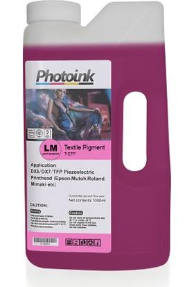 Photo Ink Epson Piezzo Kafalar İçin 1000 Ml Açık Kırmızı Light Magenta Tekstil Mürekkep (T-Etp)