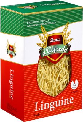 Pasta D'Alfredo Linguine Katkısız El Yapımı Bol Yumurtalı Sade Makarna 500 Gr