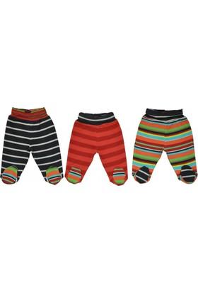Bebepan 1209 Zoo 3'Lü Patikli Pantolon Orjinal Renk 0-3 Ay