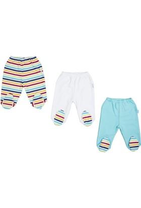 Bebepan 1703 Mr. Fish 3'Lü Patikli Pantolon Orjinal Renk 9-12 Ay