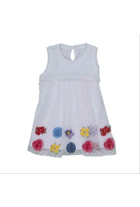 Bebepan 8574 Colors Tüllü Elbise Orjinal Renk 3-6 Ay