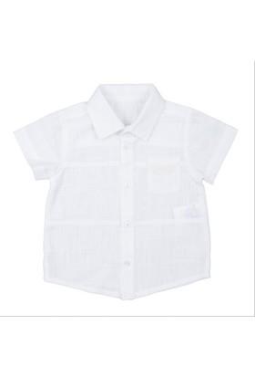 Bebepan Cool Keten Gömlek Beyaz 6-9 Ay
