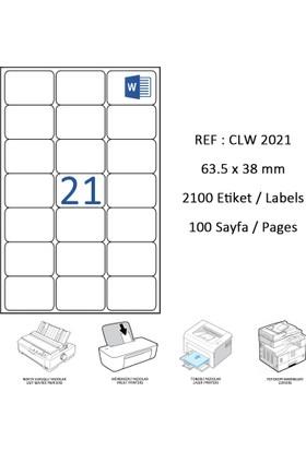 Crea Label Clw-2021 63.5 X 38.1 Mm Lazer Etiket