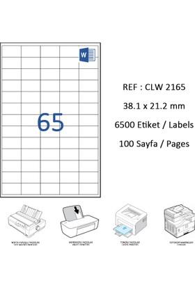 Crea Label Clw-2165 38.1 X 21.2 Mm Lazer Etiket