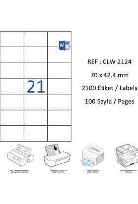 Crea Label Clw-2124 70 X 42.43 Mm Lazer Etiket