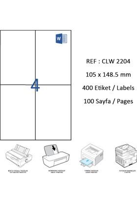 Crea Label Clw-2204 105 X 148.5 Mm Lazer Etiket