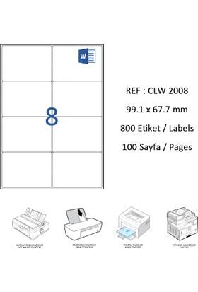 Crea Label Clw-2008 99.1 X 67.7 Mm Lazer Etiket
