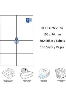 Crea Label Clw-2374 105 X 74.25 Mm Lazer Etiket