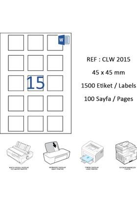 Crea Label Clw-2015 45 X 45 Mm Lazer Etiket