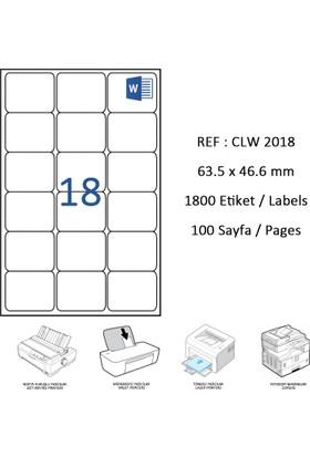 Crea Label Clw-2018 63.5 X 46.6 Mm Lazer Etiket