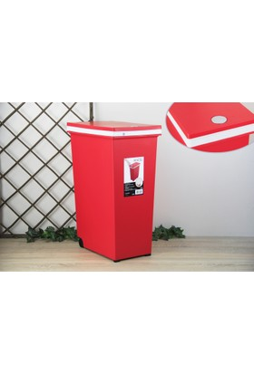 Ancel Dokunmatik Kırmızı Çöp Kovası 45Lt