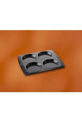 Pyrex Yapısmaz Dort Bolmelı Kek Kabı 10 Cm