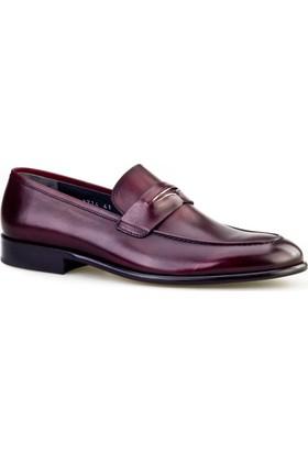 Cabani Kemerli Klasik Erkek Ayakkabı Bordo Analin Deri