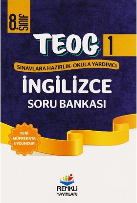 Renkli Yayınları Teog1 8. Sınıf İngilizce Soru Bankası