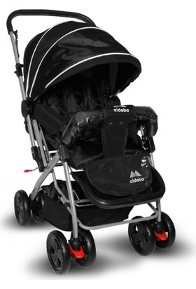 Aldeba 8028B Çift Yönlü Bebek Arabası - Siyah