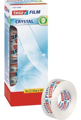 Tesa Kristal Film Bant 8'li paket 33m 19mm