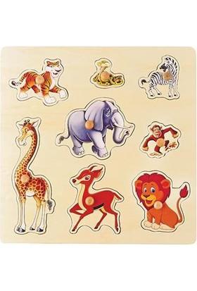 Akay Gk014K Ahşap Safari Hayvanlar Puzzle