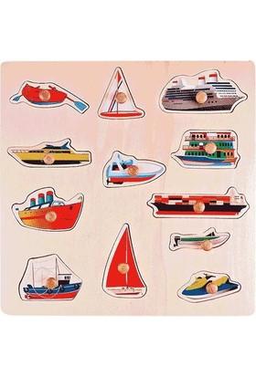 Akay Gk014H Ahşap Puzzle Deniz Taşıtları