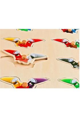 Akay Gk014D Ahşap Puzzle Renkler