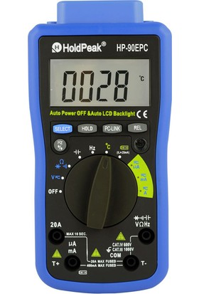 Holdpeak 90EPC Otomatik Ölçü Aleti Multimetre