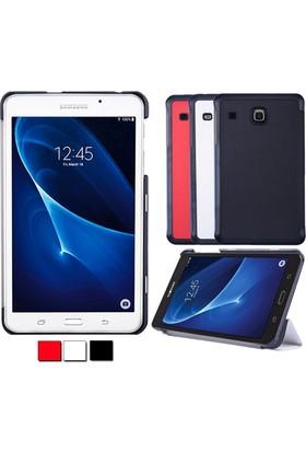 Ally Samsung Galaxy Tab E 8.0 T375 T377 Gizli Mıknatıslı Standlı Ultra İnce Deri Kılıf