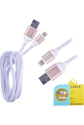 Ally Kopmaz Karışmaz 2.4A Hızlı Şarj iPhone 5S,5C/ 6S Plus Lightning Usb Kablo