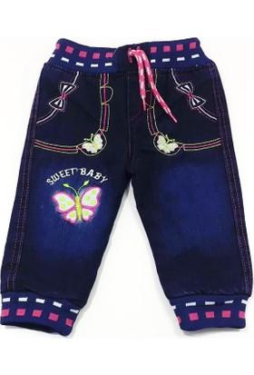 Ertuğ Anne & Bebek Kelebek Nakışlı Velsoft Bebek Pantolonu