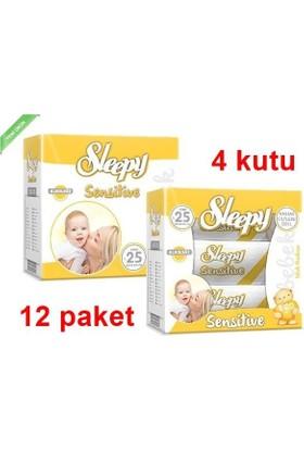 Sleepy Sensitive Islak Havlu Mendil 60 Li 12 Adet (Yeni)