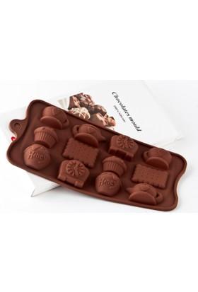 Elitparti Silikon Çikolata Kalıbı Çay Saati Figürlü