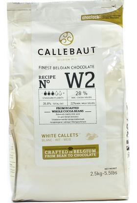 Callebaut Damla Beyaz Çikolata 2.5 Kg