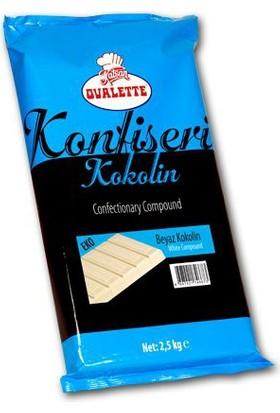 Elitparti Ovalette Beyaz Konfiseri Kokolin Çikolata 2.5 Kg