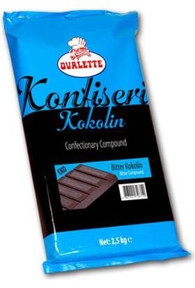 Elitparti Ovalette Bitter Konfiseri Kokolin Çikolata 2.5 Kg