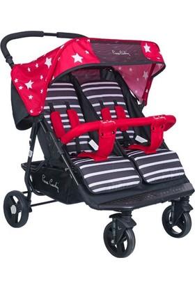 Pierre Cardin Ivo İkiz Bebek Arabası Kırmızı