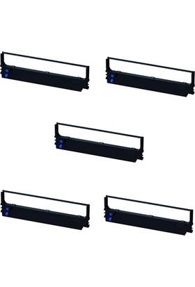 Print Şerit Epson LX 300 + LX 400 Muadil Şerit 4 + 1 5 Adet Kartuş Nokta Vuruşlu Ekonomik Yazıcı Şeridi