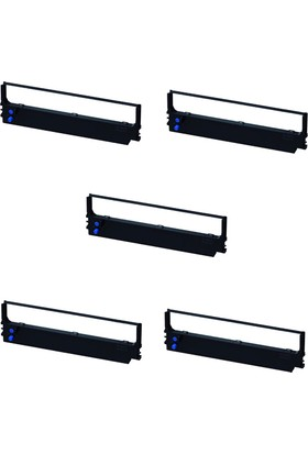 Print Şerit Epson LQ 1070 + LQ 1170 + LQ 1600 K Muadil Şerit 4 + 1 5 Adet Kartuş Nokta Vuruşlu Ekonomik Yazıcı Şeridi