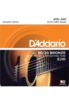 Daddario Ej10 Akustik Gitar Teli