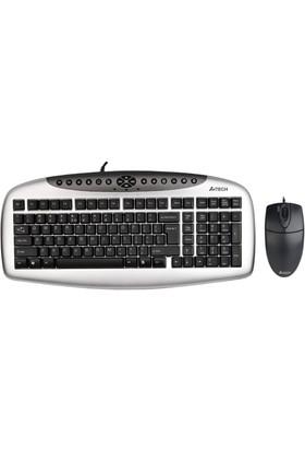 A4 Tech Kb-21620D Q Trk Multimedia Klavye Optic Mouse Set Usb Kablolu