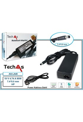 Techas Ag-La45 90W 19V 4.74A 7.4*5.0 Tek Uçlu Notebook Adaptör Hp