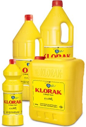 Klorak Çamaşır Suyu 5 lt 3'lü Koli