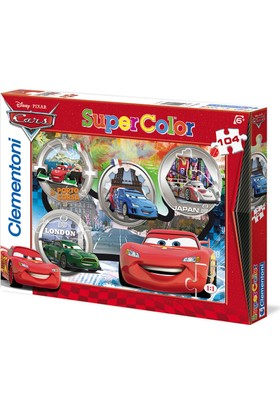 Clementoni Cars 104 Parça Çocuk Puzzle