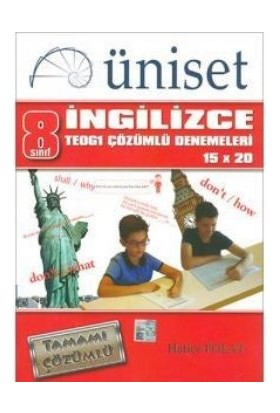 Üniset Yayıncılık 8. Sınıf İngilizce Teog1 Çözümlü Denemeleri 15X20