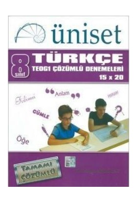 Üniset Yayıncılık 8. Sınıf Türkçe Teog1 Çözümlü Denemeleri 15X20