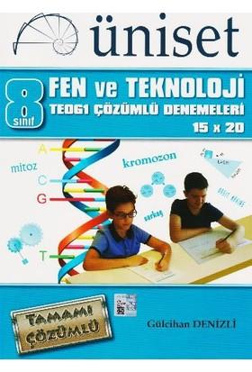 Üniset Yayıncılık 8. Sınıf Fen Ve Teknoloji Teog1 Çözümlü Denemeleri 15X20