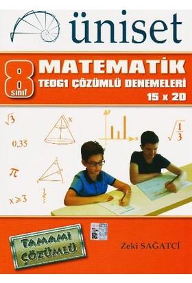 Üniset Yayıncılık 8. Sınıf Matematik Teog1 Çözümlü Denemeleri 15X20